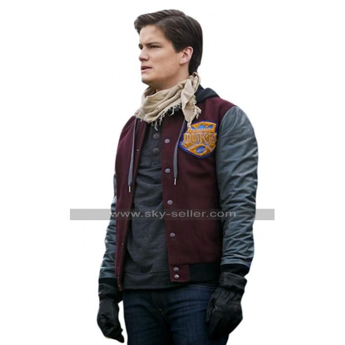 Between TV Series Justin Kelly (Chuck) Bomber Varsity Hoodie Jacket