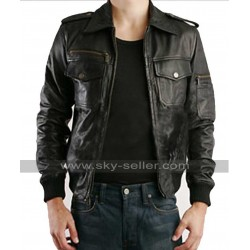 Justin Timberlake William Rast Black Leather Jacket