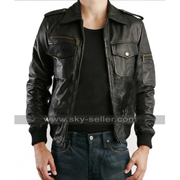 Justin Timberlake William Rast Black Leather Jacket