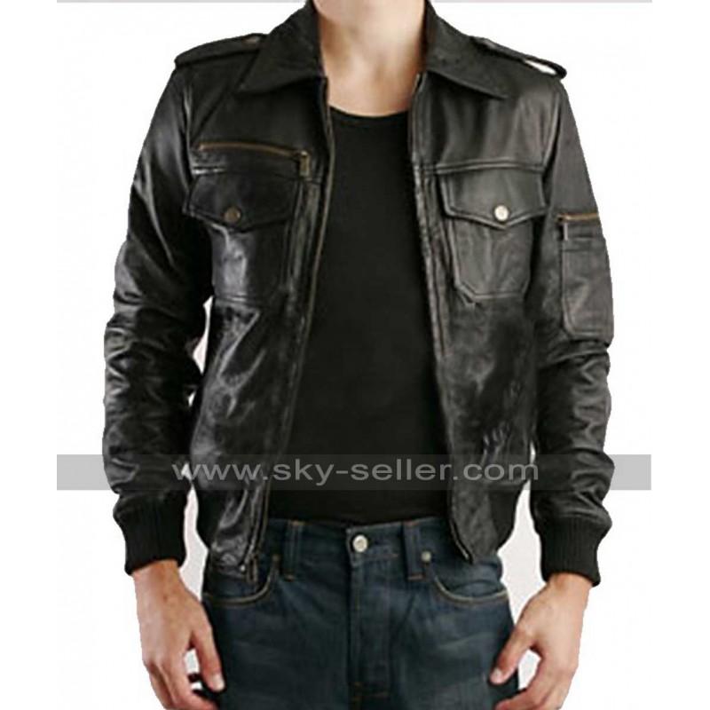 4da0963b1 Justin Timberlake William Rast Black Leather Jacket
