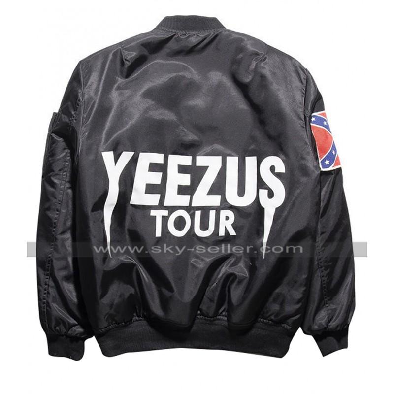 Kanye West Singer Yeezus Tour Bomber Satin Green / Black ...