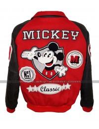 Michael Jackson Mickey Mouse Letterman Varsity Bomber Jacket