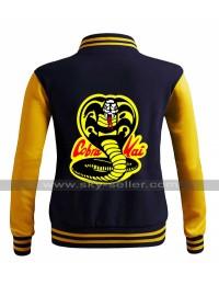 Moletom Karate Cobra Kai Kid College Varsity Bomber Letterman Jacket
