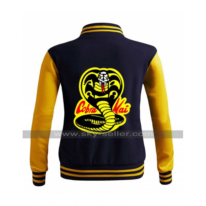 Moletom Karate Cobra Kai Kid College Varsity Bomber Letterman Jacket