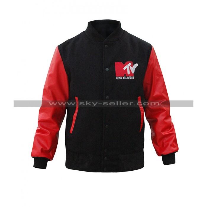 Robert Pattinson Mtv Black Bomber Jacket
