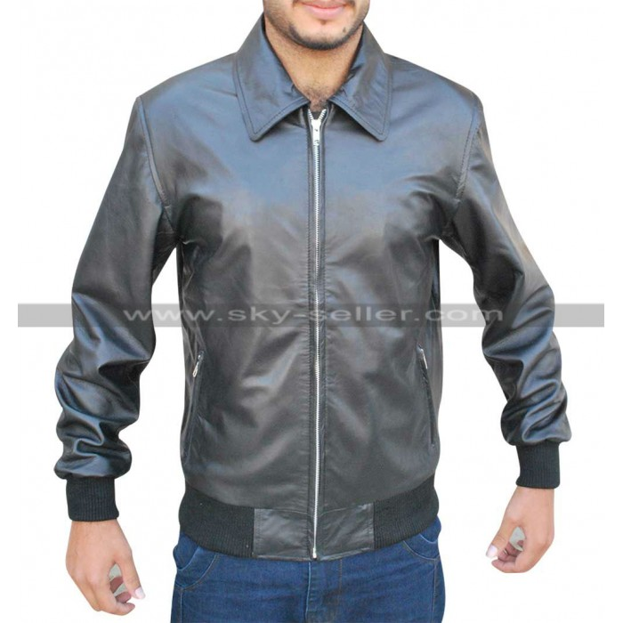 Stephen Amell Arrow S3 Oliver Queen Black Bomber Jacket