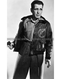Tokyo Joe Humphrey Bogart Fur Bomber Leather Jacket