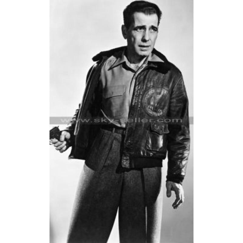 Joe Humphrey Bogart Fur Bomber Leather Jacket