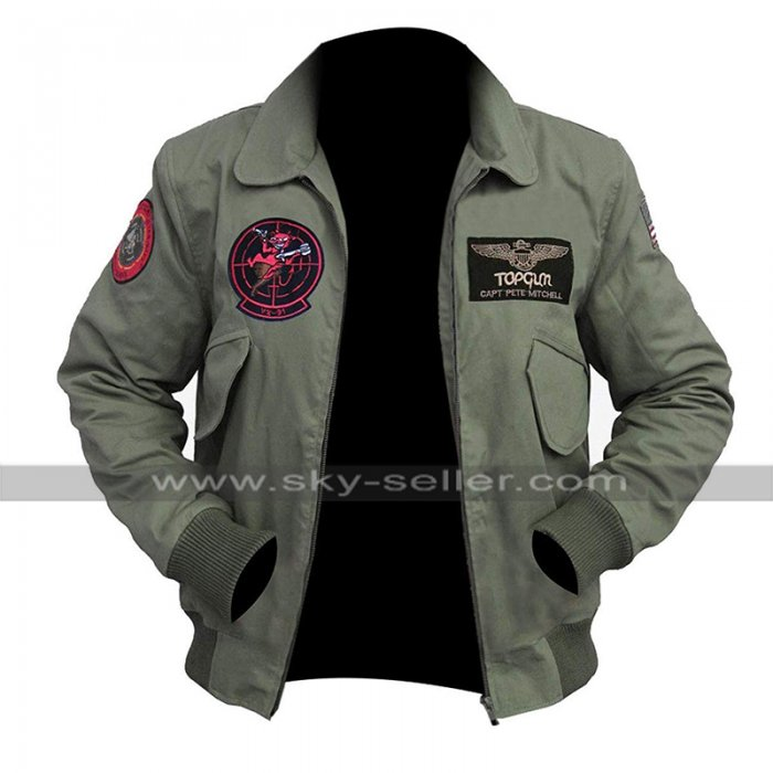 Tom Cruise Top Gun Maverick 2020 MA 1 Flight Aviator Pilot Cotton Jacket with Patches
