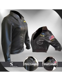 Top Gun Kelly McGillis (Charlie) Black Leather Jacket