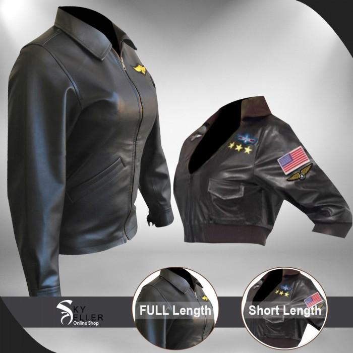 Top Gun Kelly McGillis (Charlie) Black Leather Jacket