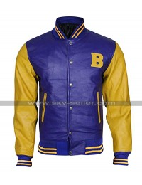 Michael J Fox Teen Wolf Letterman Bomber Jacket
