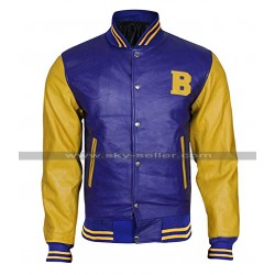Michael J Fox Teen Wolf Letterman Bomber Jacket