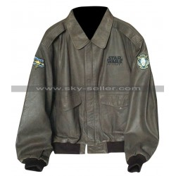 Vintage Star Wars Episode 1 Bomber Leather Jacket