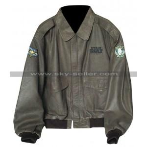 Vintage Star Wars Episode 1 Bomber Leather Jacket