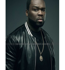 50 Cent Den of Thieves Black Varsity Leather Jacket
