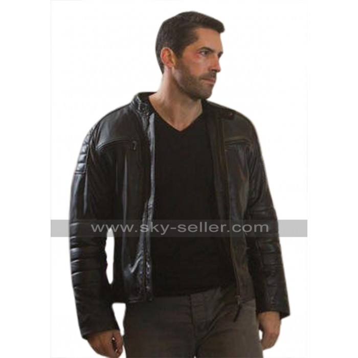 Mike Fallon Accident Man Black Leather Jacket