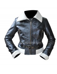 Aviator Womens Sheepskin Shearling Bomber Fur Jacket