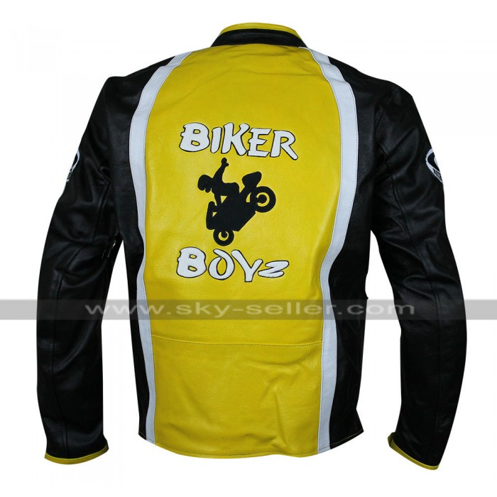 Biker Boyz Derek Luke Yellow Motorcycle Leather Jacket