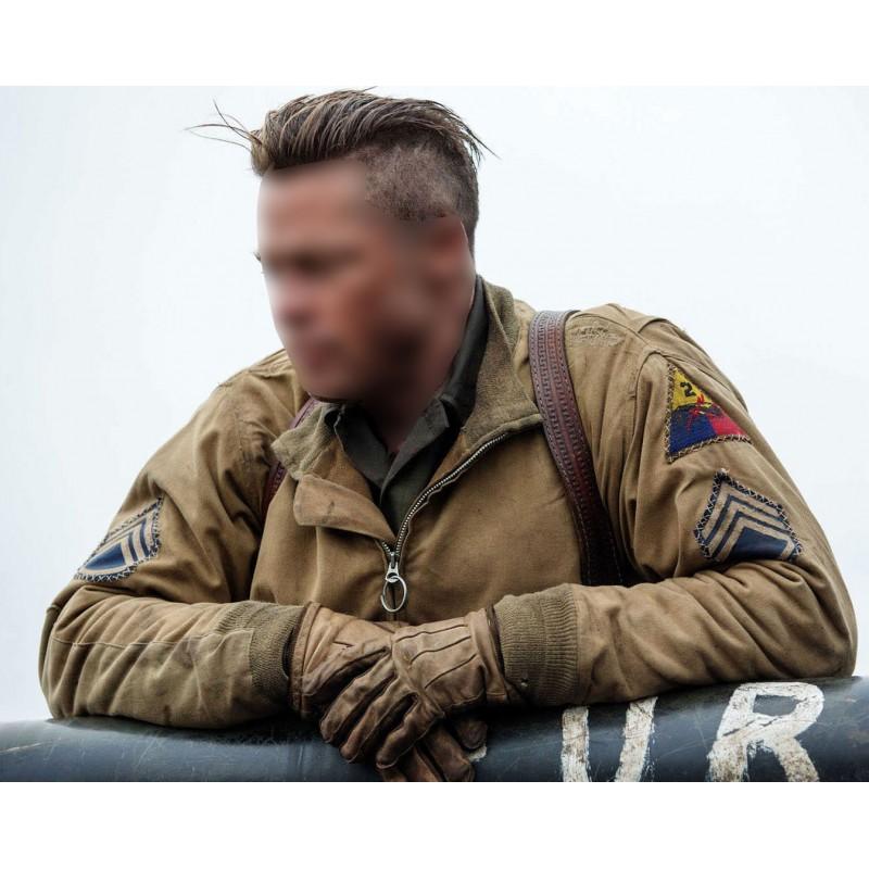 Brad pitt wardaddy tanker ww2 jacket fury brad pitt wardaddy tanker ww2 jacket urmus Images