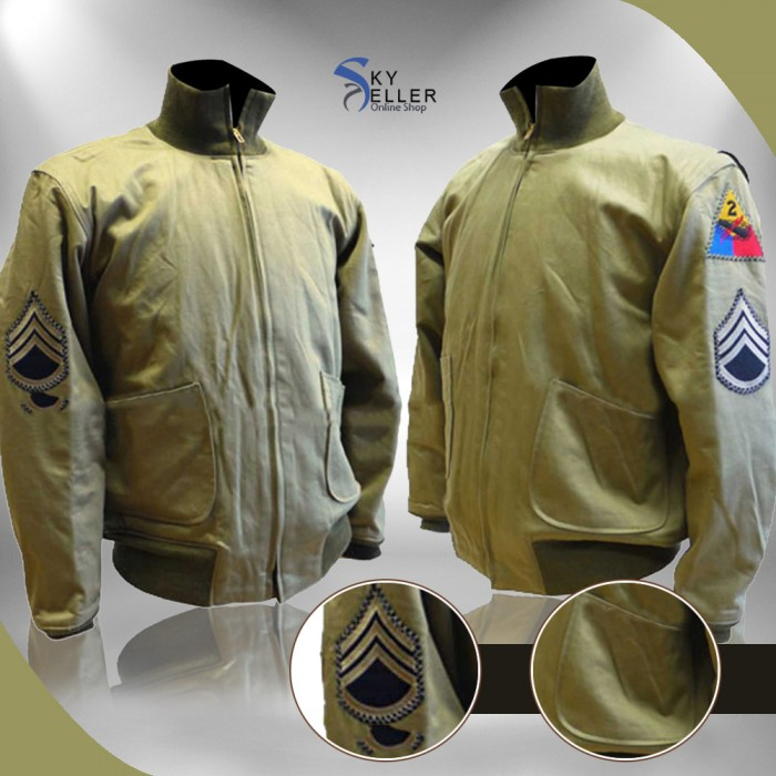 Fury Brad Pitt (Wardaddy) Tanker WW2 Jacket