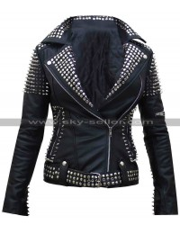 Britney Spears Till the World Ends Spiked Leather Jacket