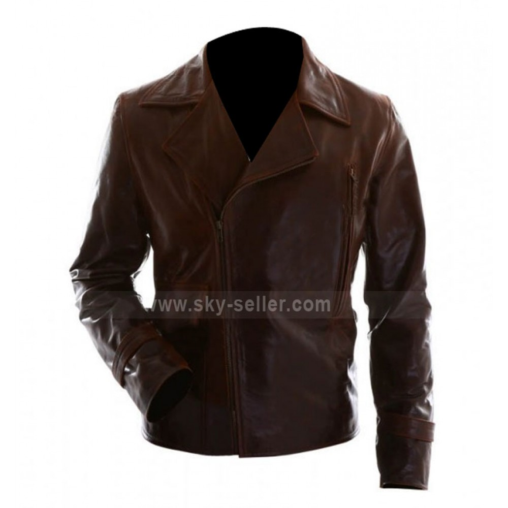 Captain America Steve Rogers Brown Biker Leather Jacket