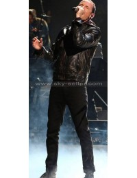 Linkin Park Chester Bennington Black Leather Jacket