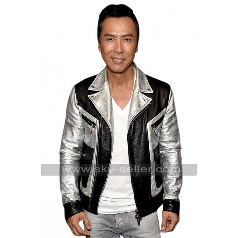 Star Wars Rogue One Premiere Donnie Yen Leather Jacket