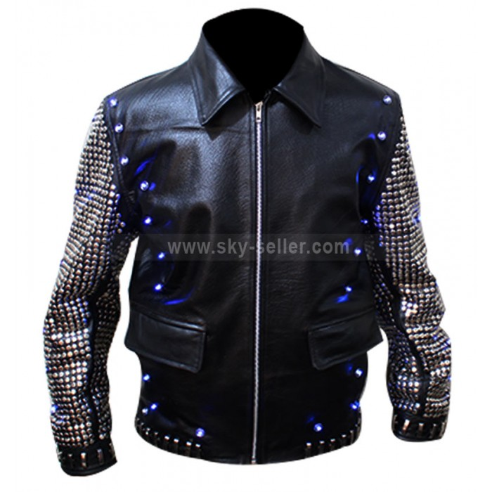 Chris Jericho Light Up Replica WWE Leather Jacket