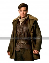 Chris Pine Steve Trevor Wonder Woman Fur Coat