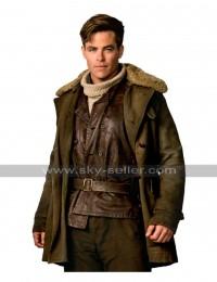 Chris Pine Steve Trevor Wonder Woman Fur Coat