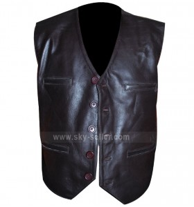 Cowboys & Aliens Daniel Craig Leather Vest