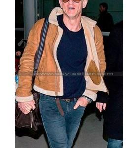 Daniel Craig Shearling Brown Leather Jacket