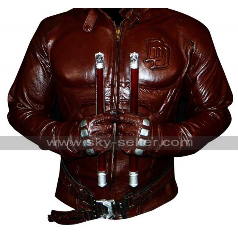 Red Leather Costume Suit Jacket