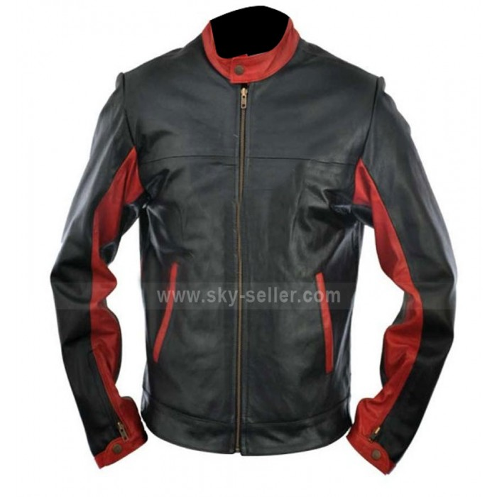 The Dark Knight Rises Batman Motorcycle Leather Jacket