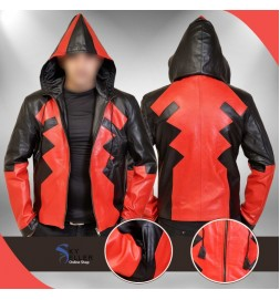 Deadpool Ryan Reynolds Full Zip Cosplay Hooded Costume Jacket