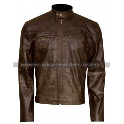 Dierks Bentley Grammy Awards Distressed Brown Leather Jacket