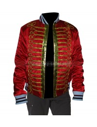 Homme Napoleon Military Red Bomber Jacket