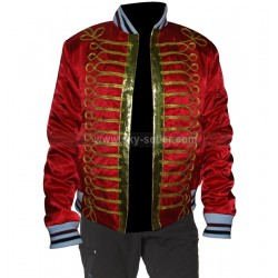 Dior Homme Napoleon Military Red Bomber Jacket