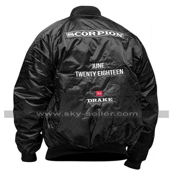 Scorpion Drake June Twenty Eighteen Bomber Black Satin Jacket