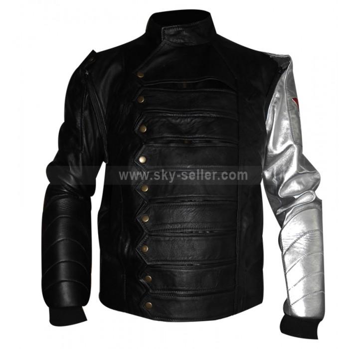 The Winter Soldier James Bucky Barnes Silver Arm Moto Vest