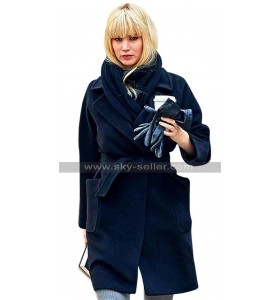 Red Sparrow Jennifer Lawrence Black Trench Coat