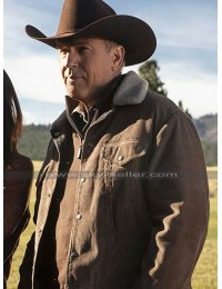 TV Series Yellowstone John Dutton Corduroy Brown Jacket