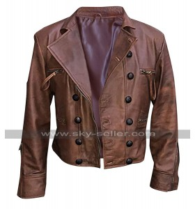 Jason Momoa Justice League Aquaman Distressed Brown Leather Jacket