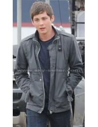 Logan Lerman Sea of Monsters Percy Jackson Leather Jacket