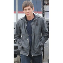 Logan Lerman Sea of Monsters Percy Jackson Leather Jacket