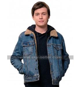 Love Simon Nick Robinson Fur Sherpa Denim Jacket