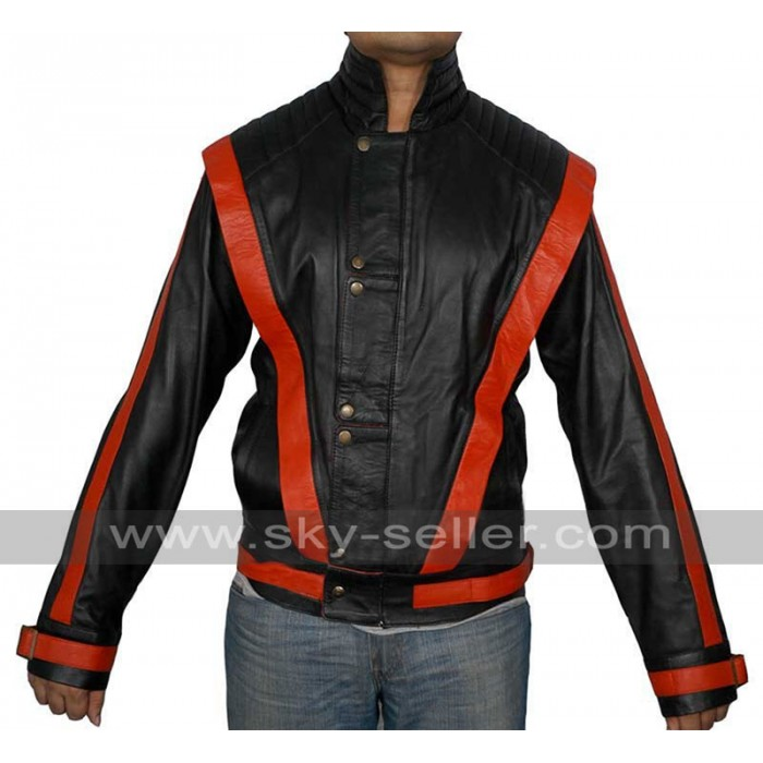 MJ.Michael Jackson Thriller Black Leather Jacket