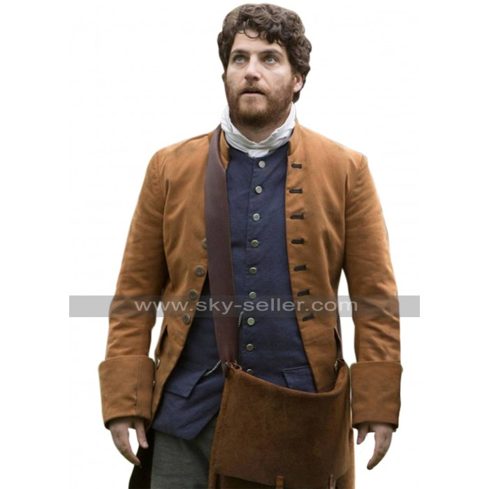 Adam Pally Making History Brown Coat
